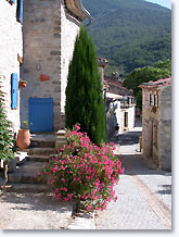 Rochebrune, flowered street