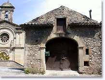 Roussas, door of the church