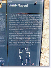 Rousset les Vignes, history of the St.-Mayeul church. Click to enlarge