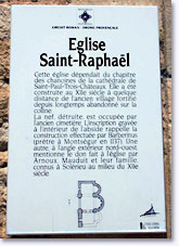 Solerieux, history of St. Raphael Church. Click to enlarge