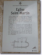 Valaurie, history of St.Martin Church, French historical monument. Click to enlarge