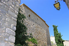 Vercoiran, stone house and cypress tree
