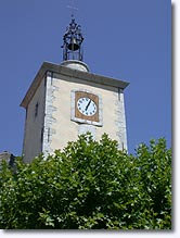 Aiguines - Clock belltower