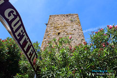 Les Arcs sur Argens, tower in the Logis du Guetteur hotel restaurant
