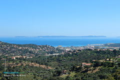 Bormes les Mimosas, view of the sea on the Porquerolles island