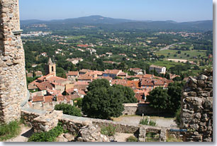 Grimaud - view from the castle