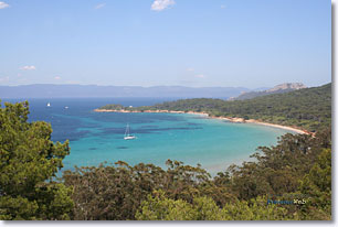 Porquerolles, Courtade beach