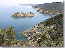 Port Cros, bord de mer