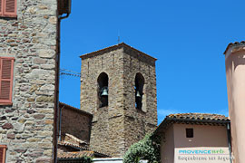 Bell tower of the church of Roquebrune sur Argens