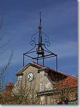 Seillons Source d'Argens - Bell tower on the city hall