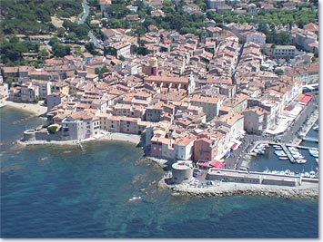 Saint-Tropez from plane