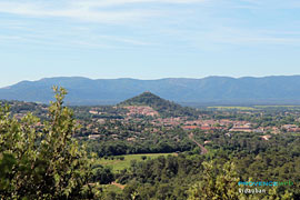 Vidauban view from Taradeau