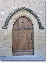 Vinon sur Verdon - Church door