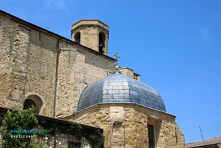 Bedarrides, dome of the church and its bell tower