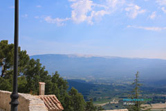 Blauvac, view of the Mont Ventoux