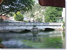 Fontaine de Vaucluse, bridge over the Sorgue river