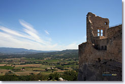 Lacoste - Luberon : view from the chateau