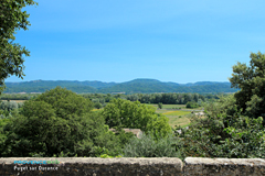 Puget sur Durance, view of the Luberon