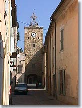 Sainte Cecile les Vignes, clock tower