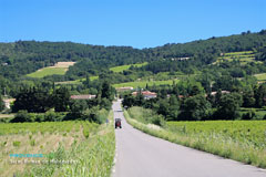 Saint Roman de Malegarde, road with tractor